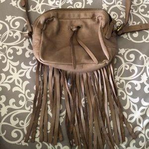 Lucky Brand cross body bag with fringe